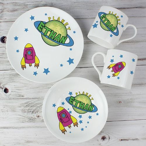 Personalised Space Breakfast Set